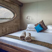 Dolphin suite with double bed and  flooded with natural light