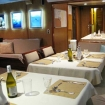 The dining and lounge area on Nautilus Under Sea