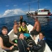Satisfied guests returning to the Kira Kira after diving Indonesia's amazing sites