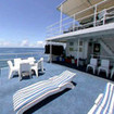 Divers can soak up the Ozzie rays on the Ocean Quest's sun deck
