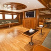 The saloon of this Hurghada liveaboard