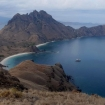 Birds eye view of Komodo National Park