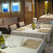 MV Undersea Hunter's dining and relaxation area