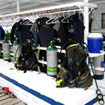 M/V Undersea Hunter's dive deck and kit up area