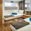 Standard twin bed cabin on board the Red Sea liveaboard - MY Emperor Elite