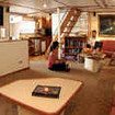 Argo's comfortable and bright saloon is located on the main deck