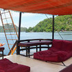 Relaxation space on La Galigo liveaboard in Raja Ampat