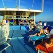 Relaxing on the sundeck on Maldives liveaboard Manthiri