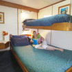 The lower deck double/twin bed cabin