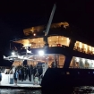 Night view of Infinti from the stern
