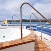 Slip into the Jacuzzi on the sun deck