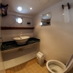 Lower deck cabin bathroom