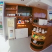 Refreshments bar on the main deck