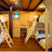 Bunk bed cabin with 4 beds and desk