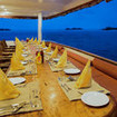 Dining al fresco on Manta Cruise