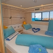 Upper deck twin bed cabin