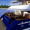 Spacious and stylish stern of this liveaboard