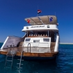 The platform gives divers easy access to Red Sea