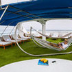 Chilling in the sundeck hammock on your cruise