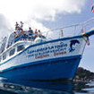 The Similan liveaboard Dolphin Queen's bow
