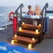 Toast your Cayman Islands diving cruise with 'champers' in the hot tub