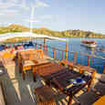 Chilling on the sundeck of the Indonesian liveaboard Mastro Aldo