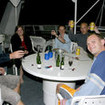 Toasting another day's spectacular Barrier Reef diving from the Kangaroo Explorer