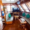 Entertainment area in the saloon of M/V Eco Blue