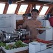 Open air dining on diving trips with the Philippine Siren