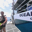 Australian catamaran diving liveaboard, Ocean Quest's platform