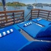 Relax on the comfortable sun loungers during your liveaboard diving charter with Mari
