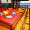 The Master suite's private balcony on the upper deck