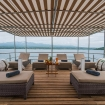 The Oceanic provides ample open air seating for you to take in the Indonesia scenery