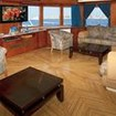 Snefro Spirit's cozy saloon with panoramic Red Sea views