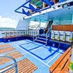 Spacious and orderly dive deck and platform