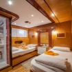 Lower deck twin cabin