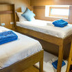 Standard lower deck cabins sleeping 2 on Thailand diving cruises