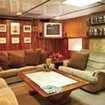 Relax between diving in the Fiji Aggressor's saloon