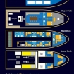 Layout of the MV Manta Queen 8