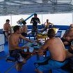 M/V Similan Explorer's open air dining and relaxing area