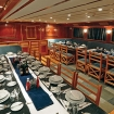 Tables set for dining on your Egypt diving charter