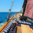 The open air deck - relax during your Komodo liveaboard