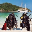 Idyllic diving in Indonesia from the liveaboard, Emperor Raja Laut