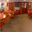 Ocean Quest's dining room comfortably seats all 48 guests
