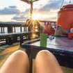 Ever-changing views from the open air decks of Wicked Diving's Komodo liveaboard