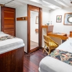 Standard twin bed cabin on the lower deck