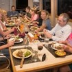 Enjoy family style dining during your Turks & Caicos Explorer II diving cruise