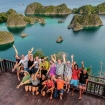 Happy guests enjoying the unforgettable Raja Ampat scenery