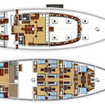 S/Y Fiji Siren deck plans
