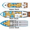 Boat layout of Andaman Tritan